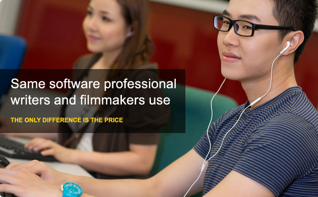 Same software professional writers and filmmakers used